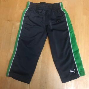 5/20$ puma gray green sweat pants size 18 months